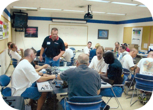 Photo of Mike Ross teaching Holley training class