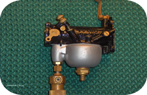 Photo of Harley-Bendix carburetor restoration (side view)